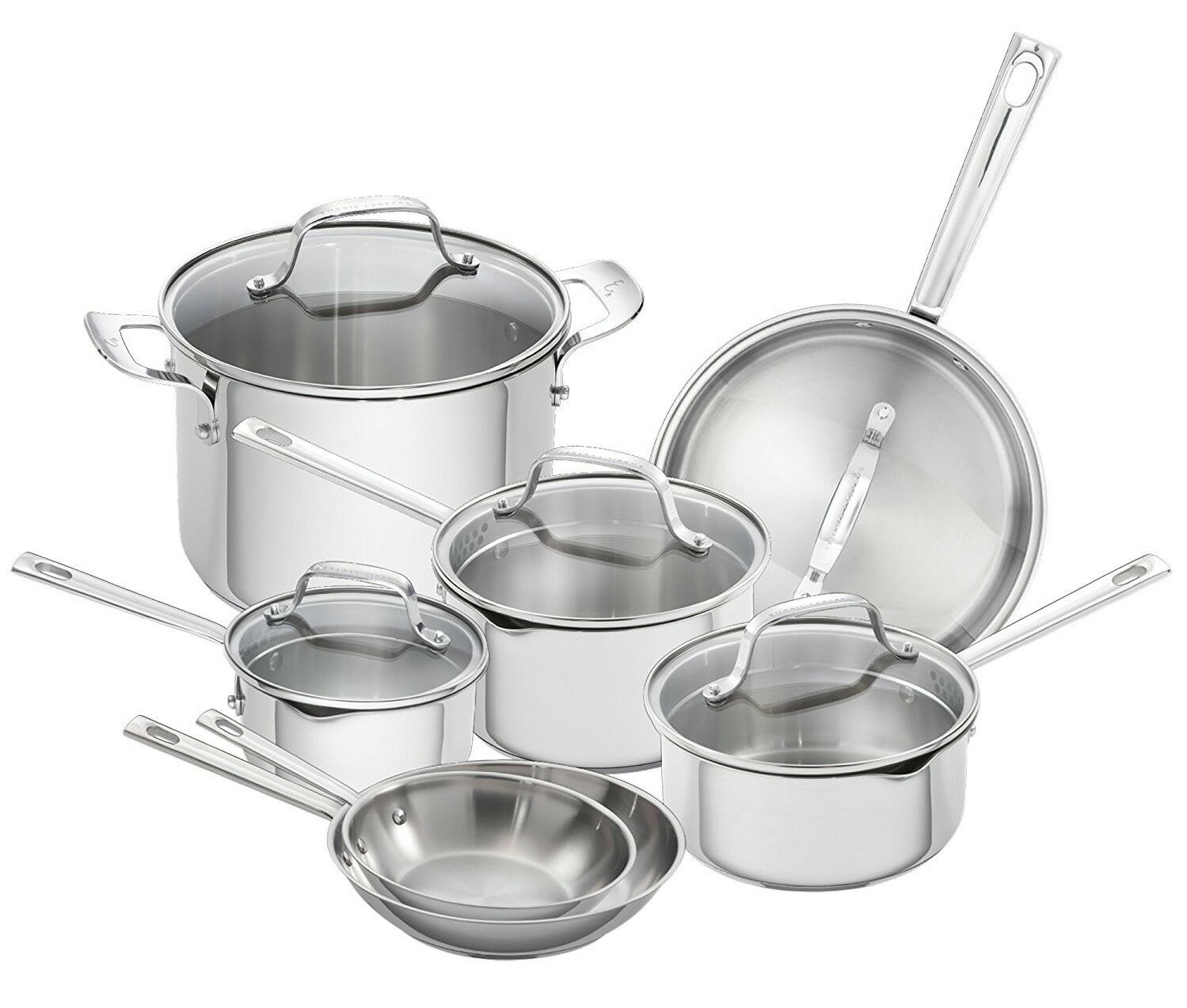 Emeril Lagasse 12 Piece Stainless Steel Induction Safe Cookware Set NEW