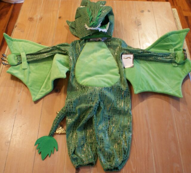 New Pottery Barn Kids Green Dragon Costume Kids Size 3t