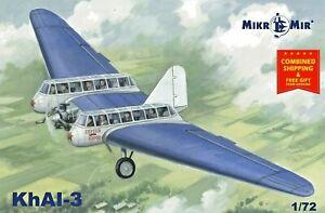Mikro-mir 72-014 - 1/72 Nieman KhAI-3 Soviet Passenger glider plastic model kit