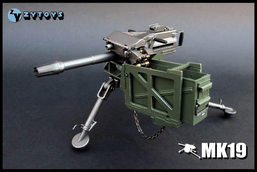 Zy Toys 1 6 Echelle Armée Américaine Mk-19 Grenade Lanceur Convient 12