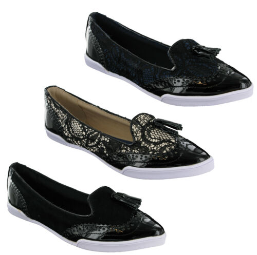 Butterfly Twists Adrienne Flat Ballerina Womens Pumps Shoes Slip On Brogue Style