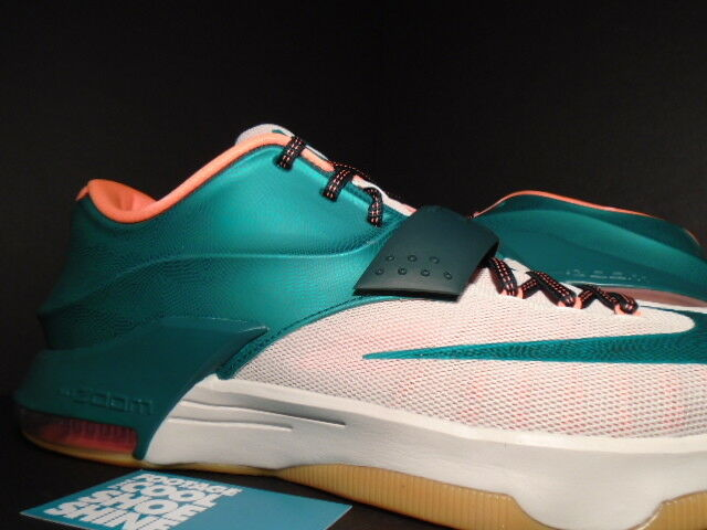 ... Nike KEVIN DURANT KD VII NEW 7 MIAMI EASY MONEY Grün Weiß Orange  653996-330 ... cbf5a822f