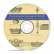 Complete Peerage of England, Scotland, Ireland, UK 17 Total Rare Volumes CD V84