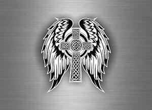 Sticker car motorcycle helmet vinyl knotted celtic cross etch irish r3