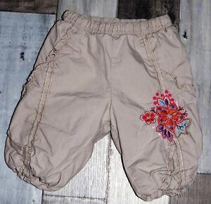 Superbe-Pantalon-beige-double-et-brode-MEXX-fille-0-2-mois-MAT25