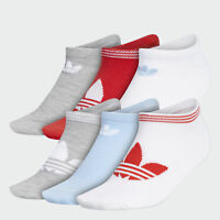 6-Pair adidas Men's or Women's Socks (Athletic Crew, Ankle, No Show)