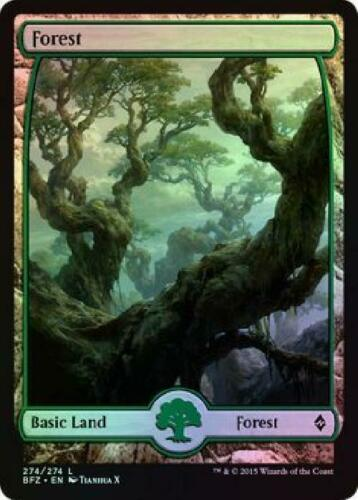 2x Forest Full Art Foil 274//274 Near Mint MTG Battle for Zendikar BFZ