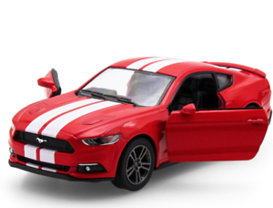 Mustang GT Red Car Metal Gift Kids Toys Diecast Vehicle Model Pull Back New
