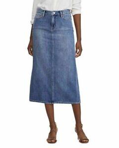 Lauren-by-Ralph-Lauren-Women-s-Petite-Denim-Jean-Midi-Skirt-size-6P-NWT