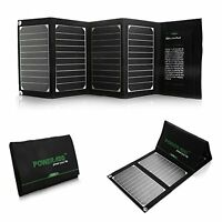 Poweradd 20w Solar Charger Dual Usb Port Solar Panel Charger - High Conversio...