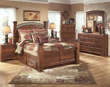 king poster bedroom sets. Ashley Furniture Timberline Queen 8 Piece Poster Bed Set with Storage B258 B347 Gabriela  King