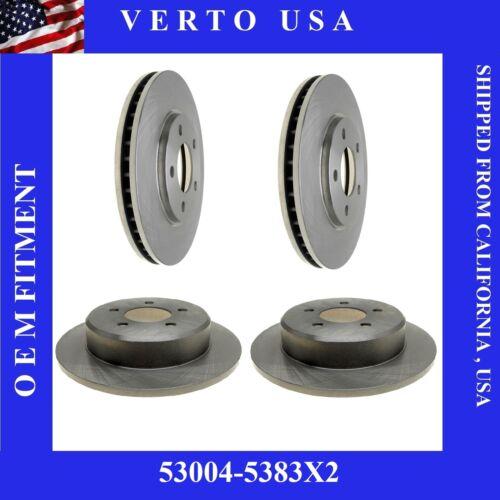 Set Of 4 Disc Brake Rotors Front /& Rear Verto USA  53004-5383X2