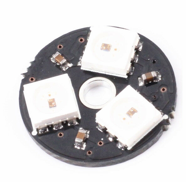2 PCS WS2812 3Bit 5V 5050 RGB LED Lamp Panel Board Round for Arduino