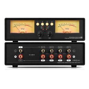 Dual VU-Meter Schallpegelanzeige Sound Level Display Audio Splitter/Switcher Box