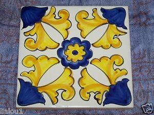 Mattonella piastrella ceramica vietri tile maiolica cucina