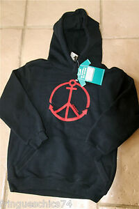 sweat capuche KANABEACH peace and love T 10 ans NEUF ETIQUETTE valeur 49€