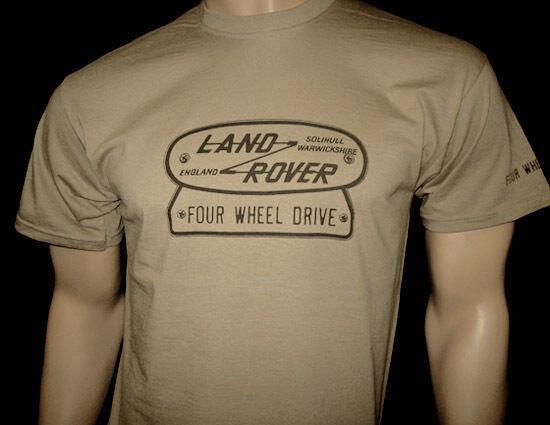 Land Rover Quattro Ruote Motrici Con Logo T-shirt - Due Colori S M L Xl Xxl-fwd Piastra