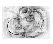 120x80cm astratto _ 1329 Nero Bianco vertebre onde Pittura Tela tipo sinusale