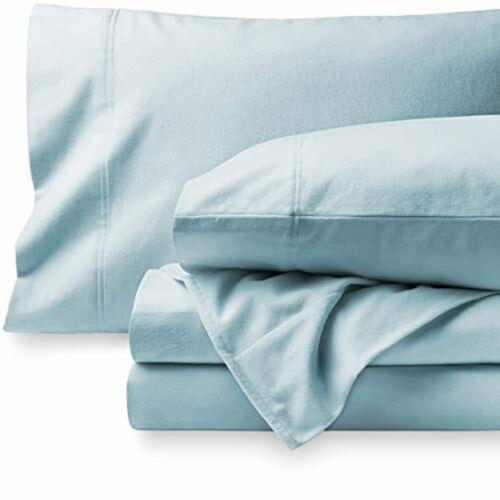 Bare Home Flannel Sheet Set 100/% Cotton Velvety Soft Heavyweight Double Brush