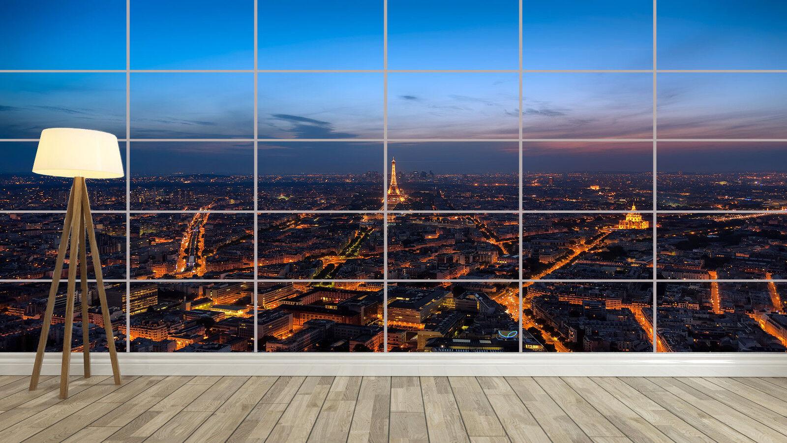 PARIS BY NIGHT PARIS LA NUIT Giant Poster Home Deco Salon 252cmX150