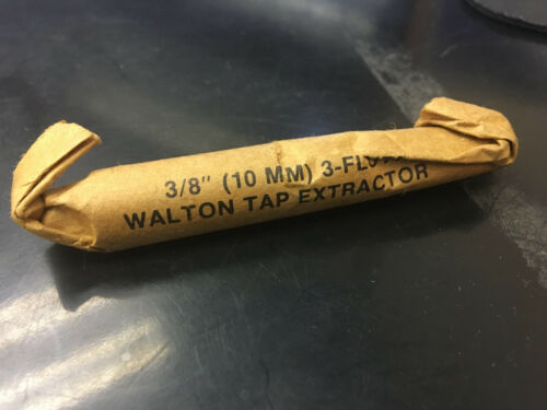 """3-Flute Tap Extractor 9//10mm Walton 3//8/"""" New"""