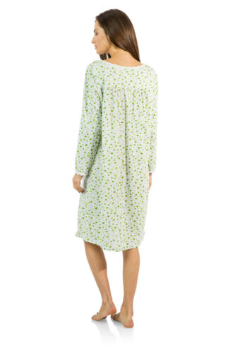 Casual Nights Women/'s Long Sleeve Lace Floral Nightgown