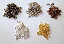 1000 Pcs 8mm Eye Hook Screw Pins Silver Plated Steel Clasp Jewelry Findings 85J