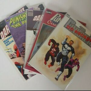 Marvel-039-s-The-Punisher-amp-Daredevil-Graphic-Novel-Comic-Book-Lot-5-issues