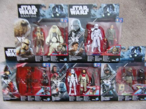 """Star Wars 3 3//4/"""" Paquete Doble De Figuras De Acción Hasbro Disney"""