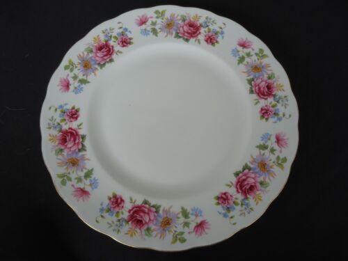 vintage queen anne  serenade 8597 bone china dinner plate floral england