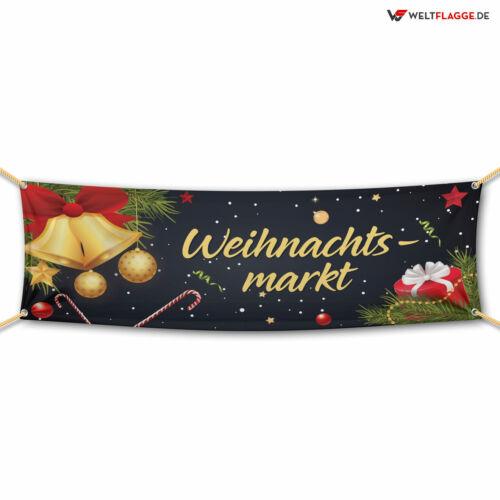 Weihnachtsmarkt Banner Werbebanner Werbeplane verschiedene Größen PVC