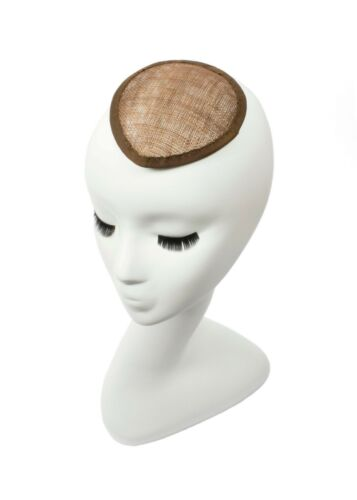 Brown Sinamay Teardrop Fascinator Hat Base Available in 16 Colors