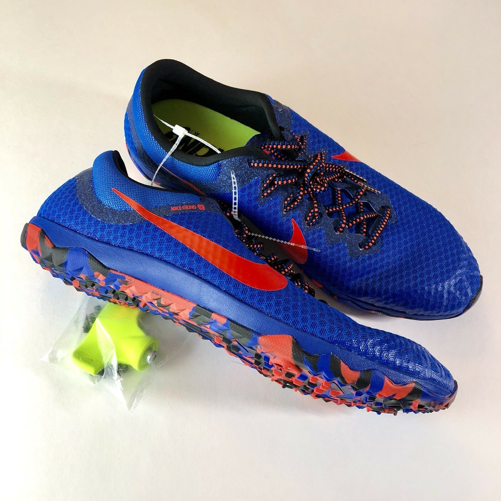 New Nike Zoom Rival XC Mens 12.5 Cross Country Running Shoes w/ Spikes Blue Red