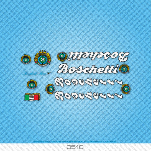 Set 510 Boschetti Rino Bicycle Decals Stickers Transfers