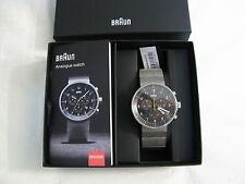 Braun Mens Silver Option BN0095BKSLBTG Watch Brand New