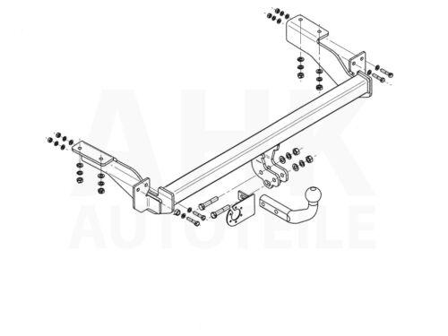 AHK Für Peugeot 307 3//5-Tür Fließheck 01-05 Anhängerkupplung starr+ES 7p uni