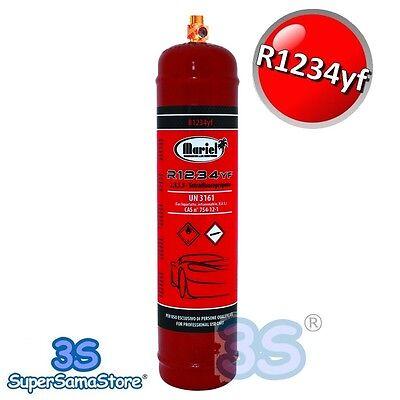 3S BOMBOLA RICARICABILE R1234yf GAS REFRIGERANTE CLIMATIZZATORE AUTO 950 gr NEW