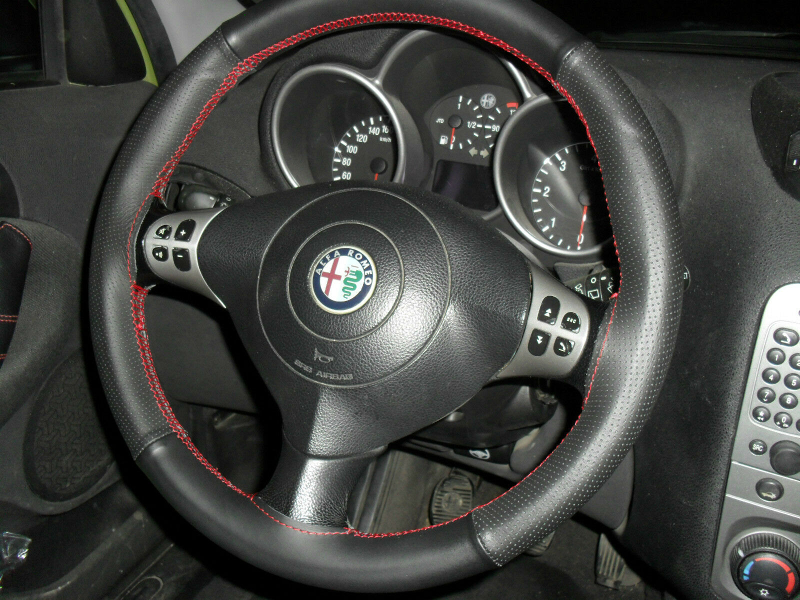 Alfa Romeo 147 Steering Wheel Cover Aus Schwarzem Leather Red Norton Secured Powered By Verisign