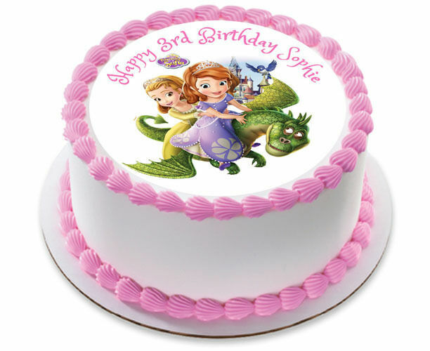 Awesome Sofia The First Personalized Birthday Cake Topper Edible Icing Birthday Cards Printable Benkemecafe Filternl