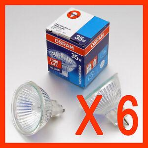 x-6-OSRAM-Halogen-Downlights-MR16-35-W-12V-GU-5-3-Bulbs-Downlight-SYDNEY