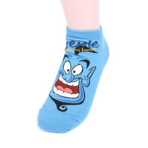 Women/'s Disney Animation Ankle Socks 4 Pairs Timon /& Pumbaa,Simba,Genie LW-DNA