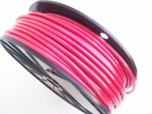 RED Vinyl Coated Cable Wire Rope, 1/8\