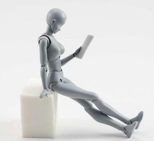 SHF 2pcs PVCAction  Figure Body-Kun DX Body-Chan DX Grey Color Ver Figure In Box