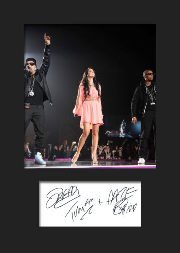 FREE DELIVERY N DUBZ #2 Signed Photo Print A5 Mounted Photo Print