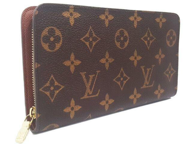 best quality e954f e6ab9 Auth LOUIS VUITTON Porte Monnai Zip around wallet purse M61727 Monogram  Vintage