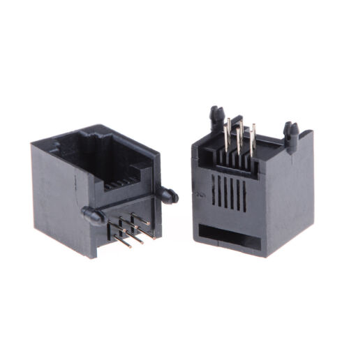 10x RJ11 RJ12 6P6C Computer Internets Networks PCB Jack Sockets High quality Jq