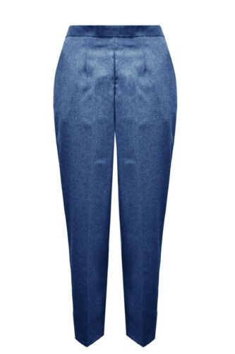 WOMEN/'S LADIES CASUAL1//2 ELASTICATED STRETCH WAIST WORK TROUSERS POCKETS PANTS
