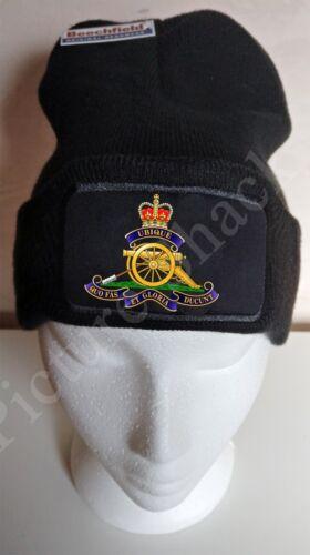 CAP. ROYAL ARTILLERY CAP BADGE PRINTED ON A BEANIE HAT