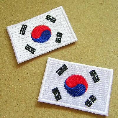 PROUD KOREAN BIKER embroidered PATCH SOUTH KOREA FLAG iron-on SEOUL