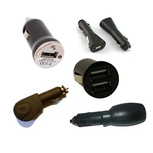 BLACK-USB-CAR-LIGHTER-CHARGER-PORT-DOUBLE-ADAPTER-UNIVERSAL-MOBILE-PHONE-iPHONE